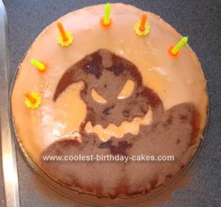 Homemade Oogie Boogie Cake