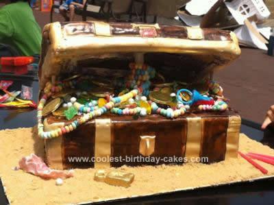 Homemade Open Treasure Chest Cake
