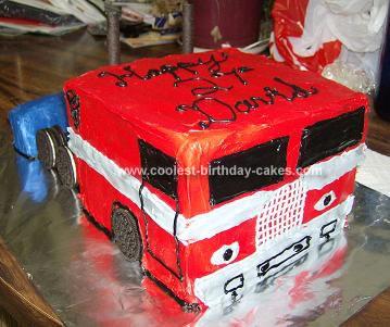 Homemade Optimus Prime Birthday Cake