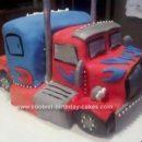 Homemade Optimus Prime Birthday Cake Design