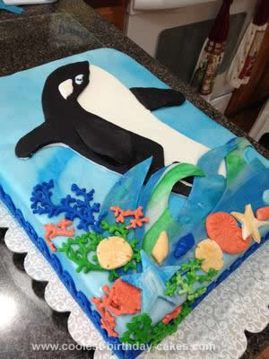 Homemade Orca Cake