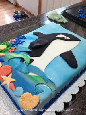 Homemade Orca Cake
