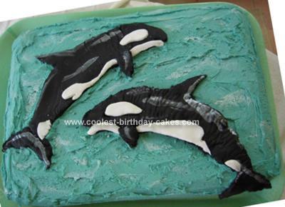 Homemade Orca Killer Whale Cake