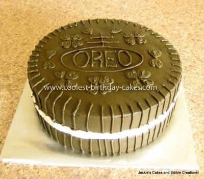 Homemade Oreo Cookie Birthday Cake