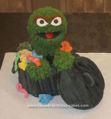 Homemade Oscar The Grouch Cake