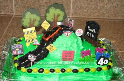 Magnificent Coolest Homemade Over The Hill Cakes Funny Birthday Cards Online Aeocydamsfinfo