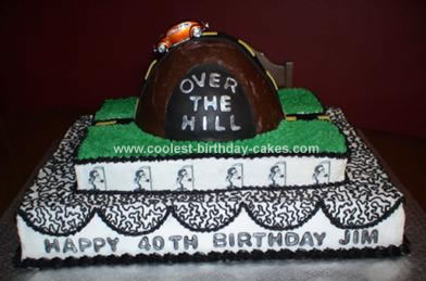 Excellent Coolest Homemade Over The Hill Cakes Funny Birthday Cards Online Aeocydamsfinfo