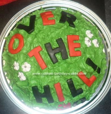 Homemade  Over the Hill Cake