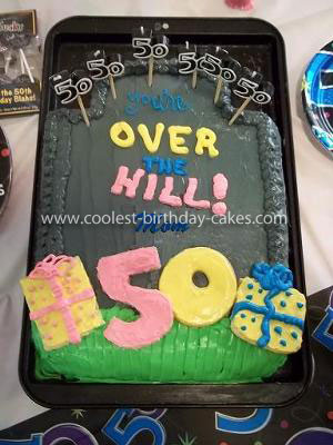 Coolest Over the Hill Tombstone Cake