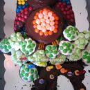 Homemade Owl Birthday Cake