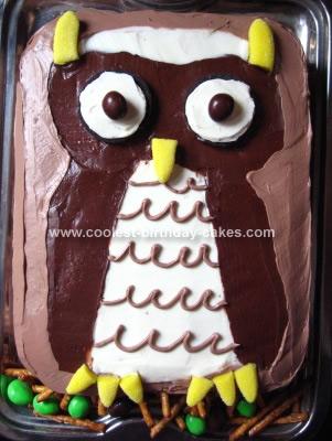 Strange Coolest Owl Birthday Cake Funny Birthday Cards Online Drosicarndamsfinfo