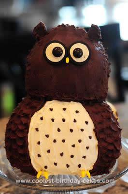 Homemade Owl Cake