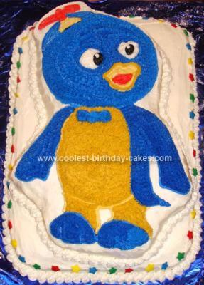 Homemade Pablo the Backyardigan Cake