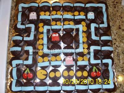 Cool Homemade Pac Man Maze Birthday Cake