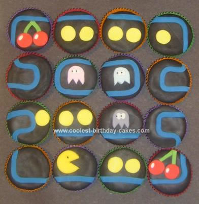 Homemade  Pac Man Cup Cakes