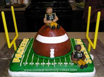 Homemade Packer Football Birthday Cake