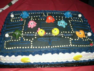 Superb Coolest Pacman 35Th Birthday Cake Personalised Birthday Cards Sponlily Jamesorg