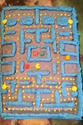 Homemade Pacman Game Cake