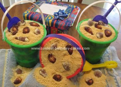 Homemade Pail of Sand Cake