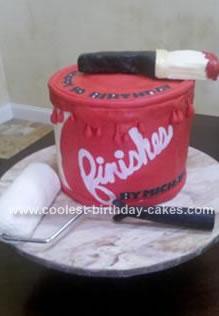Homemade Paint Can Birthday Cake