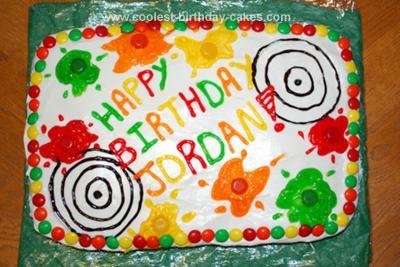Homemade Paintball Cake