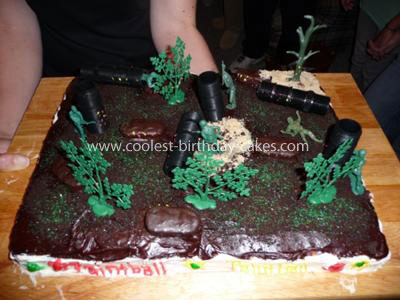 Coolest Paintball Cake