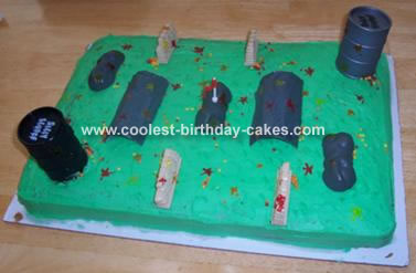 Paintball Field Cake