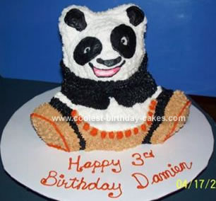 Excellent Coolest Panda Bear Cake Funny Birthday Cards Online Inifofree Goldxyz