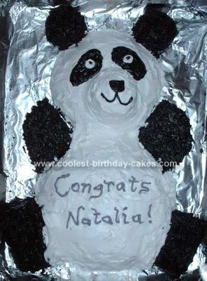 Homemade Panda Bear Cake