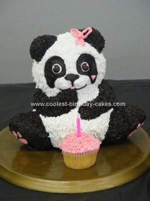 Homemade Panda Bear Party Cake