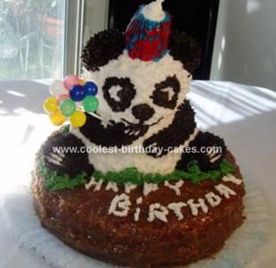 Homemade Panda Birthday Cake
