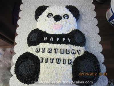 Homemade Panda Birthday Cake