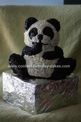 Homemade Panda Cake Design