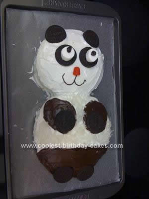 Homemade Panda Cake Design