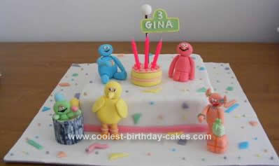 Homemade Party on Sesame Street Cake