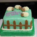 Homemade Pasture of Sheep Cake