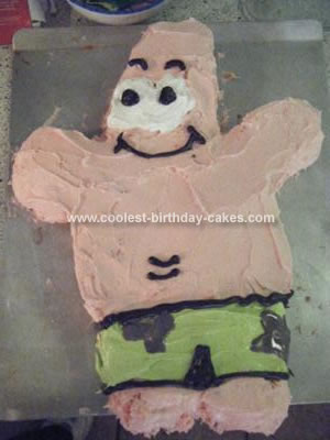 Homemade Patrick Star Cake