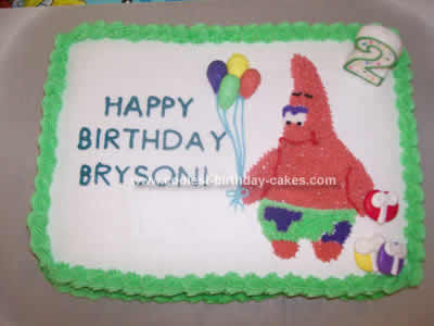 Astonishing Coolest Patrick Cake Personalised Birthday Cards Cominlily Jamesorg