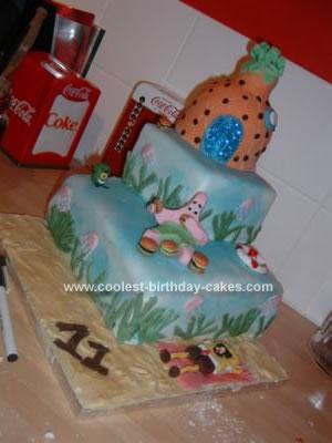 Homemade Patrick's Burger Fest Cake