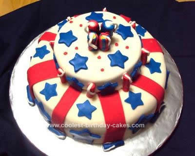 Homemade Patriotic Cake Design