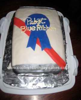 Homemade PBR Beer Can Cake