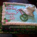 Homemade Peace Birthday Cake