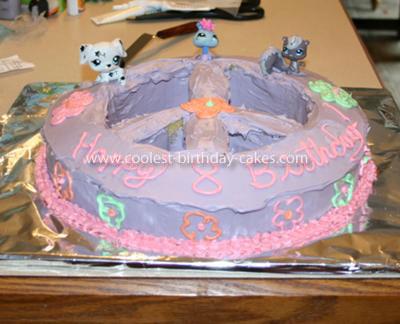 Homemade Peace Sign Petshop Toys Cake