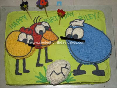Homemade Peep and the Big Wide World Cake