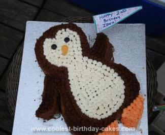 Homemade Penguin Birthday Cake