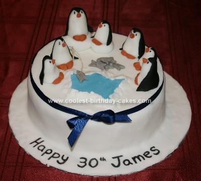 Incredible Coolest Penguin Birthday Cake Funny Birthday Cards Online Aeocydamsfinfo