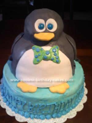Astounding Coolest Homemade 3D Penguin Birthday Cake Design Funny Birthday Cards Online Aeocydamsfinfo