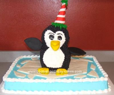 Homemade Penguin Cake
