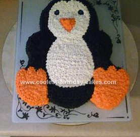 Homemade Penguin Cake