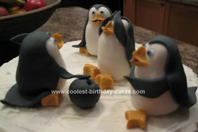 Homemade Penguins Cake